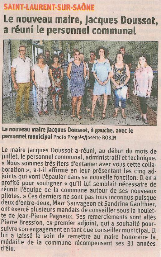 2020.07.23_le nouveau maire jacques doussot a réuni le personnel communal_mairie de saint laurent sur saone