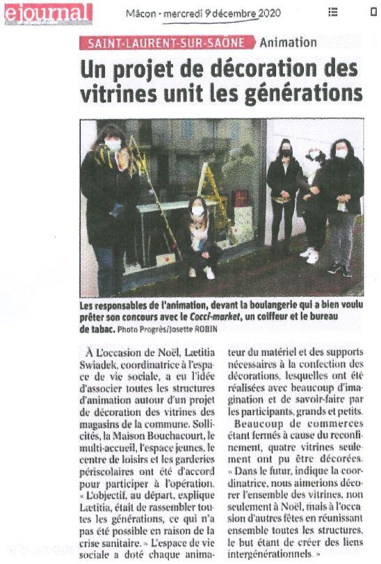 2020.11.09_un projet de décoration des vitrines unit les générations_mairie de saint laurent sur saone